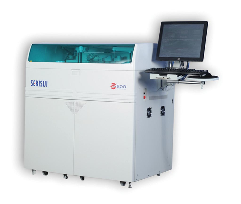 Image: The SK500 clinical chemistry system (Photo courtesy of Sekisui Diagnostics).