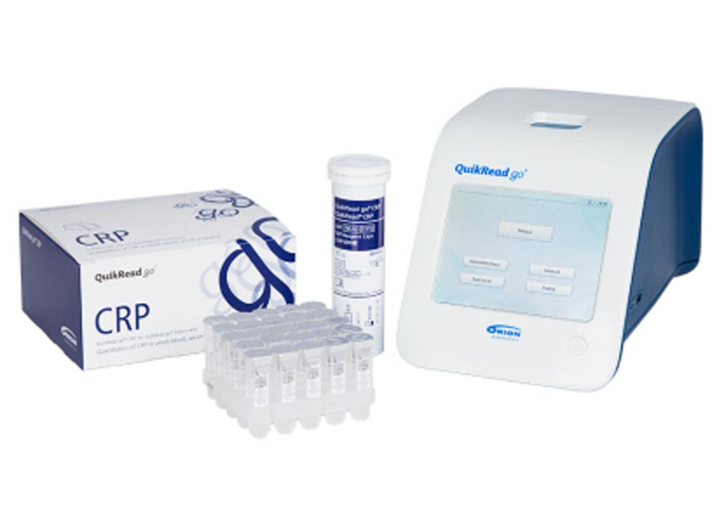 Image: The QuikRead go CRP kit (Photo courtesy of Orion Diagnostica).