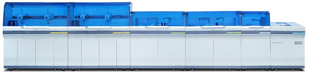 Image: The Biolumi 8000 integrated system (Photo courtesy of Snibe).