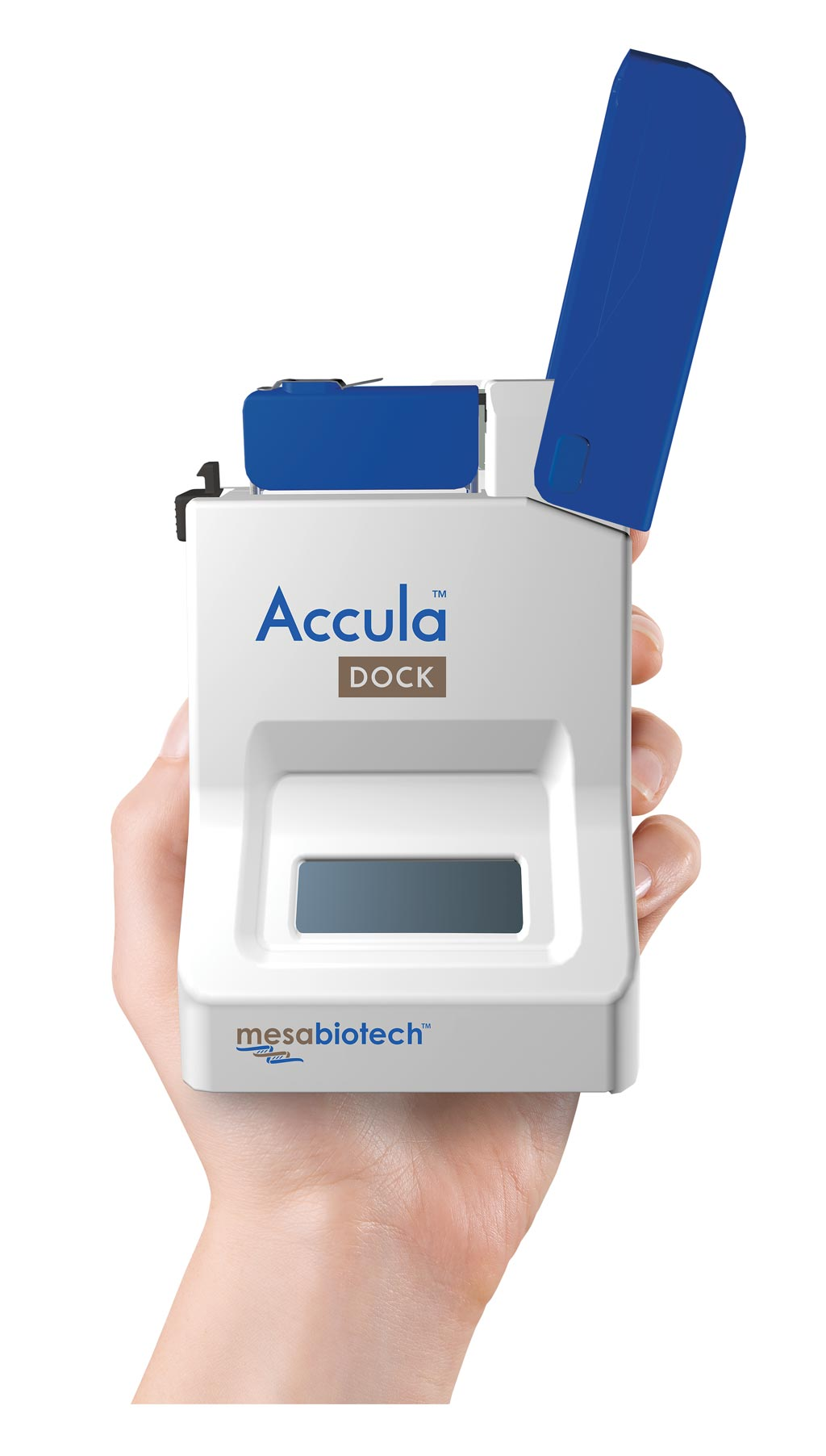 Image: The Accula Dock system (Photo courtesy of Mesa Biotech).