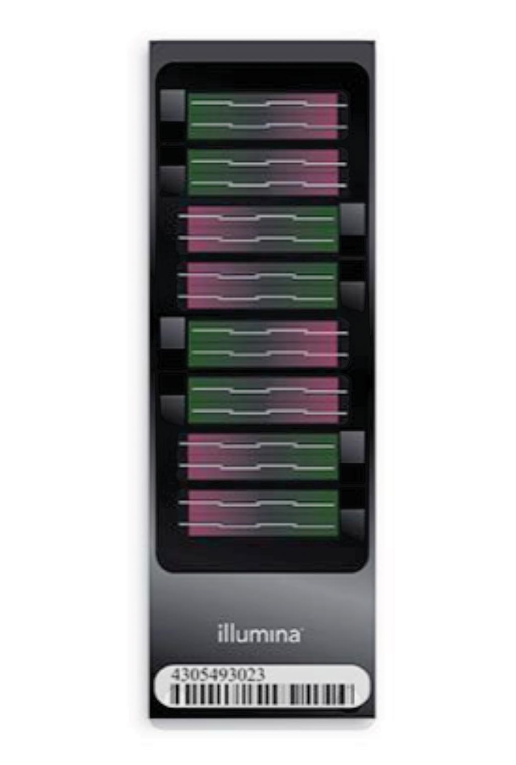Image: The Infinium Human Methylation 450K BeadChip: robust methylation profiling microarray with extensive coverage of CpG islands, genes, and enhancers; used for epigenome-wide association studies (Photo courtesy of Illumina).