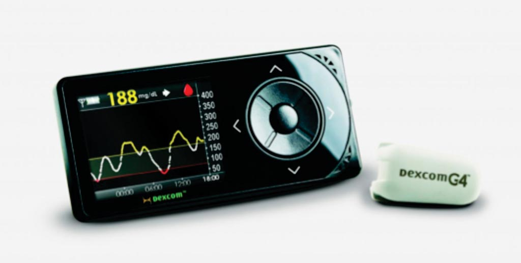 Image: The G4 Platinum continuous glucose monitoring (CGM) system (Photo courtesy of Dexcom).