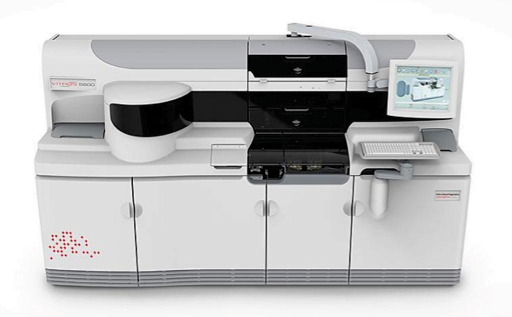 Image: The Vitros 5600 integrated system for blood analysis (Photo courtesy of Ortho Clinical Diagnostics).