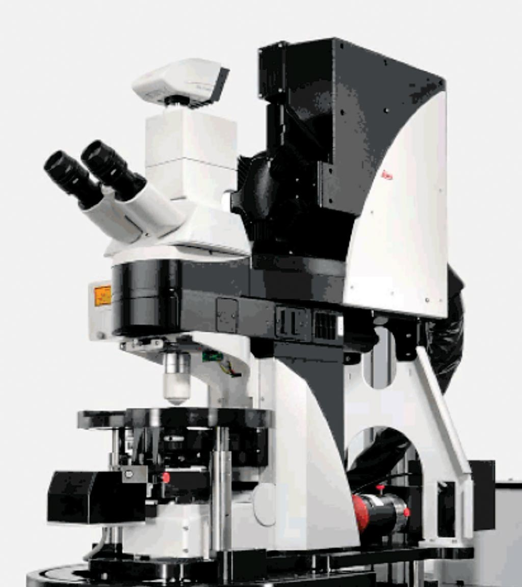 Image: The Leica TCS SP5 Confocal microscope fully covers a broad range of requirements in confocal and multiphoton imaging with excellent overall performance. The system provides the full range of scan speeds at the highest resolution (Photo courtesy of Leica Microsystems).