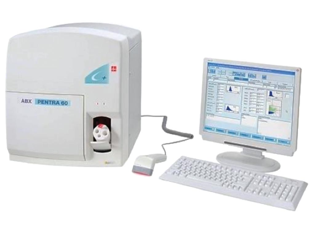 Image: The ABX Pentra 60 C+ automated hematological analyzer (Photo courtesy of Horiba).