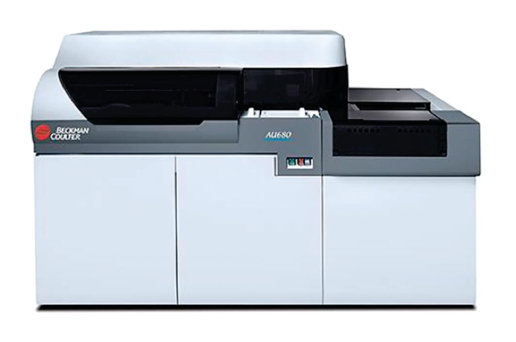 Image: The Olympus AU680 automated analyzer (Photo courtesy of Beckman Coulter).