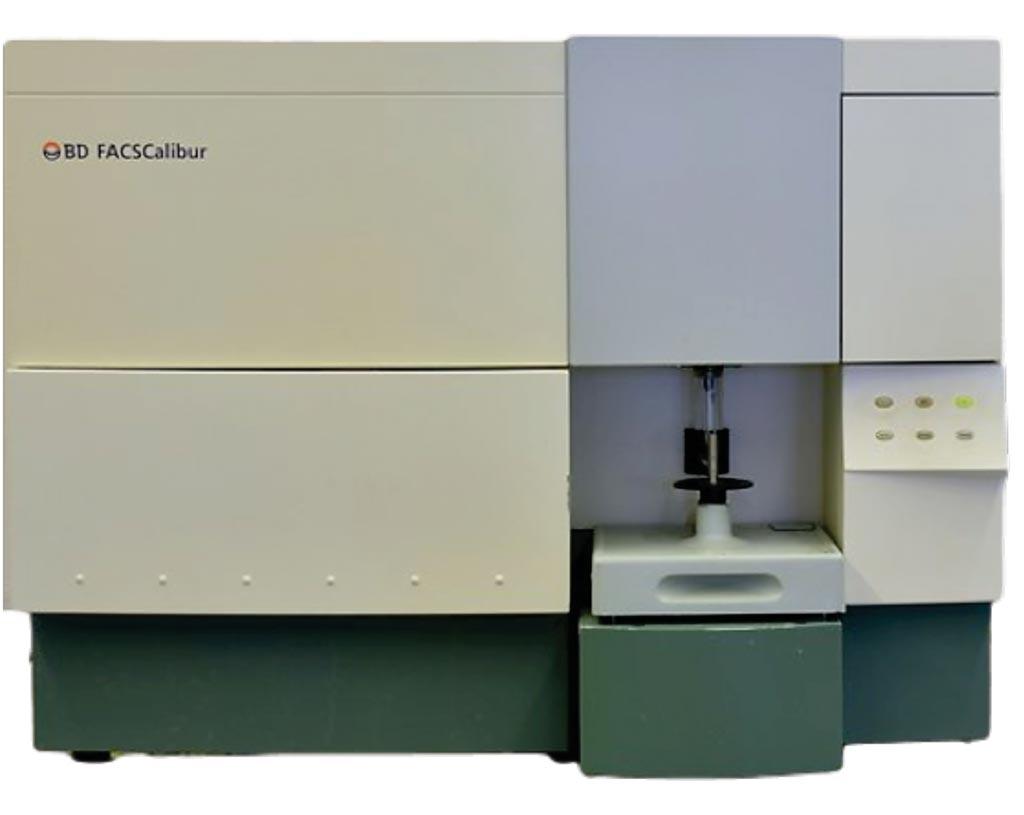 Image: The FACSCalibur flow cytometer used to immunophenotype pediatric leukemia (Photo courtesy of Becton Dickinson).