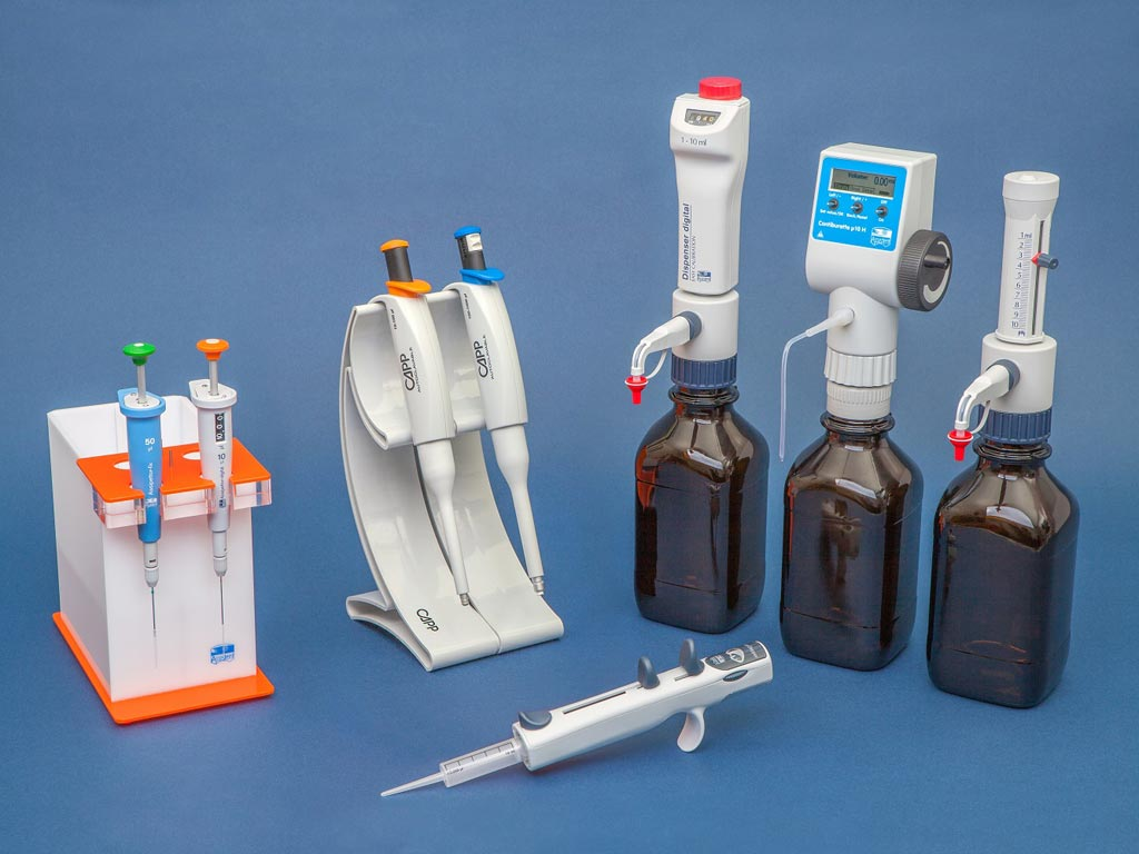 Image: Liquid handling products from Hecht-Assistant (Photo courtesy of Glaswarenfabrik Karl Hecht).