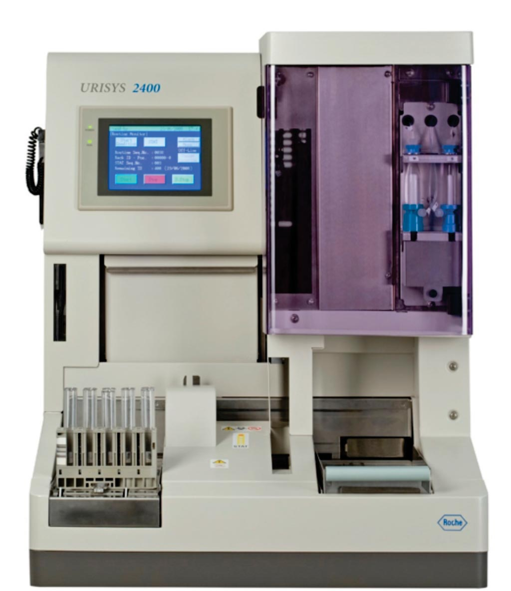 Image: The Urisys 2400 urine analyzer (Photo courtesy of Roche Diagnostics).