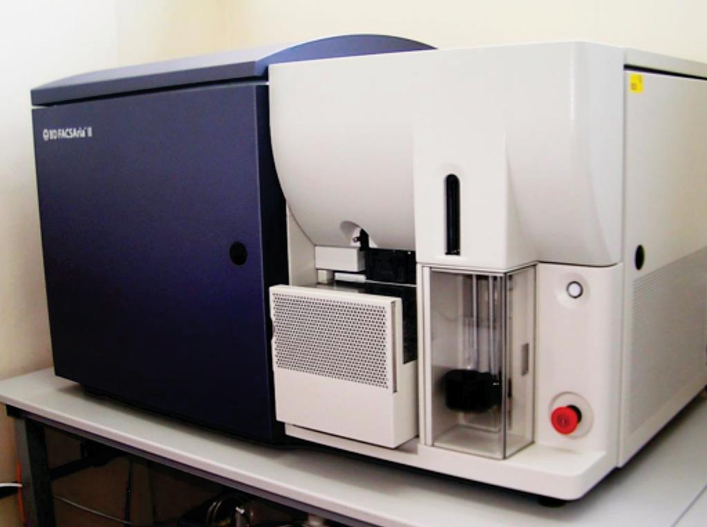 Image: The BD-FACS AriaII cytometer (Photo courtesy of the University of California, Merced).