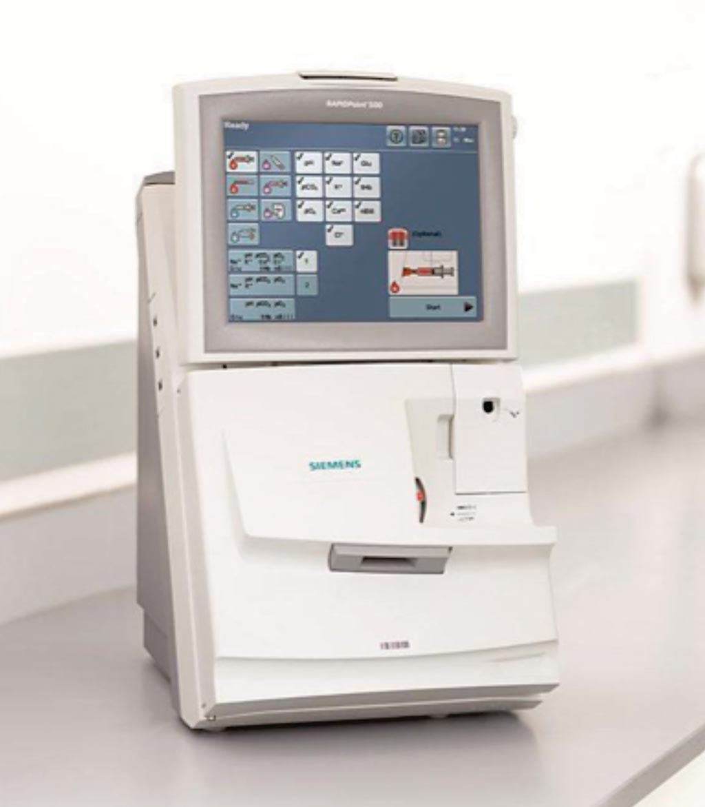 Image: The Automatic QC RAPID Systems RAPIDPoint 500 blood gas analyzer (Photo courtesy of Siemens Healthcare).