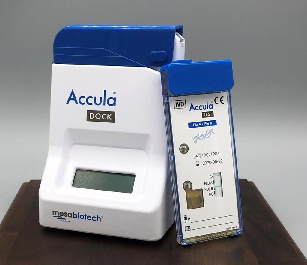 Image: The Accula system for POC testing (Photo courtesy of Mesa Biotech).