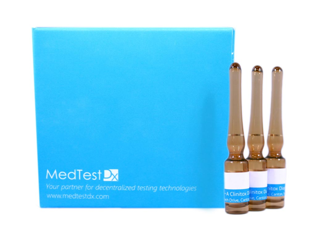 Image: The MedTest Dx Clinitox Solution (Photo courtesy of MedTest Dx).