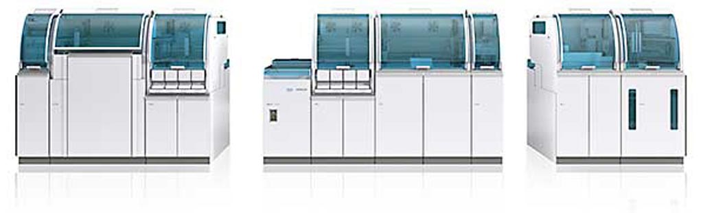 Image: The cobas 8100 automated workflow series (Photo courtesy of Roche).