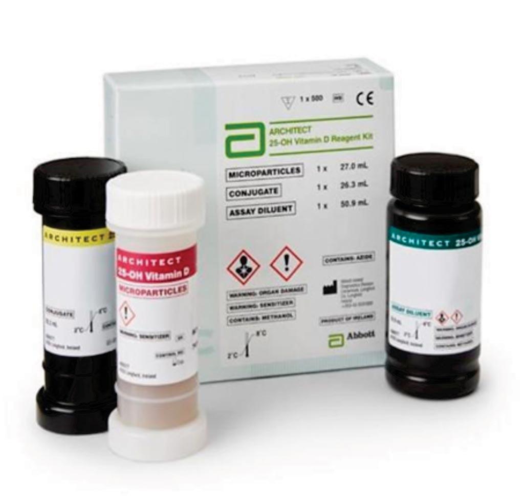 Image: The Architect 25-OH Vitamin D reagent kit (Photo courtesy of Abbott).
