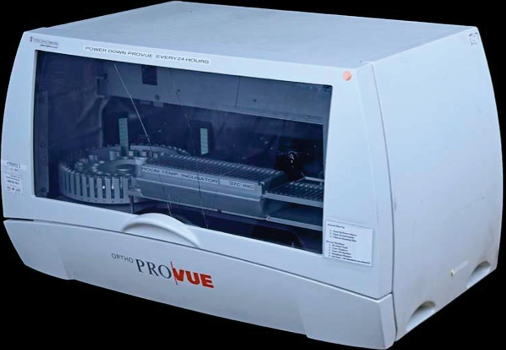 Image: The Ortho ProVue automated blood bank analyzer (Photo courtesy of Ortho Clinical Diagnostics).