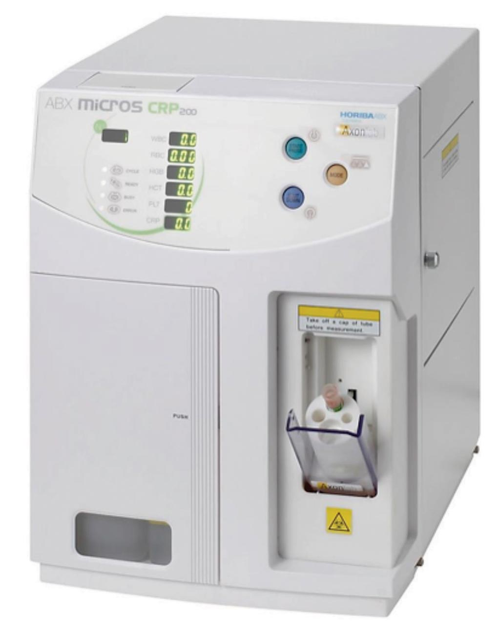 Image: The ABX Micros CRP 200 hematology analyzer (Photo courtesy of Horiba Medical).