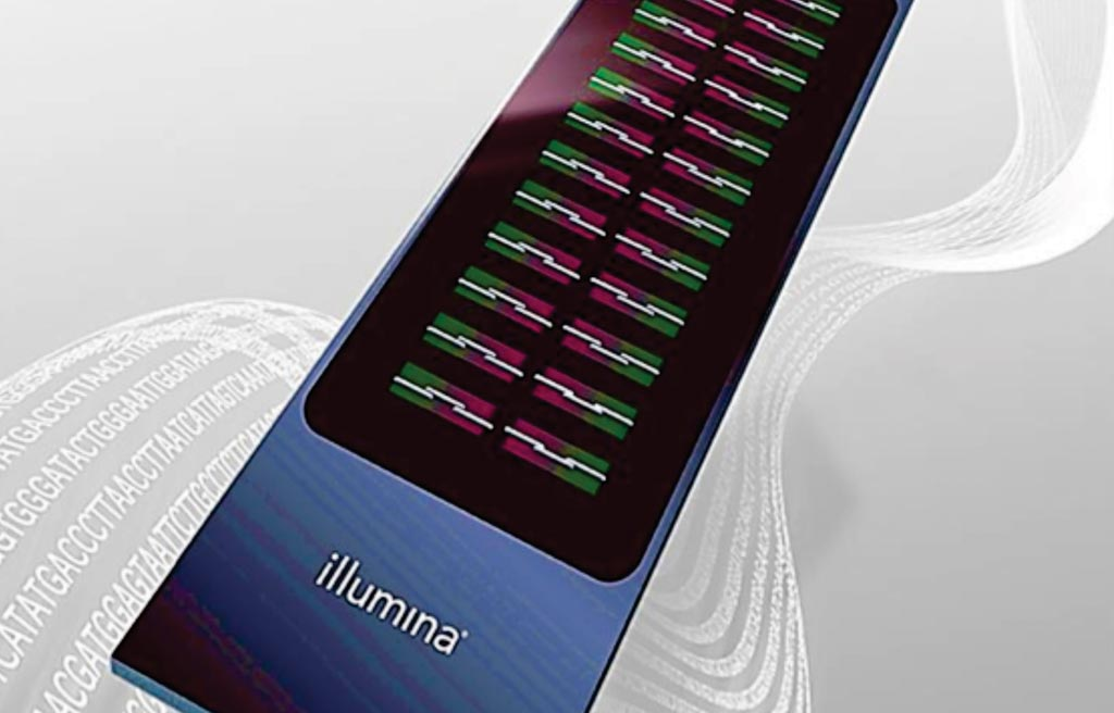 Image: A multiple sclerosis chip (MS chip) was designed using the Illumina iSelect platform (Photo courtesy of Illumina).