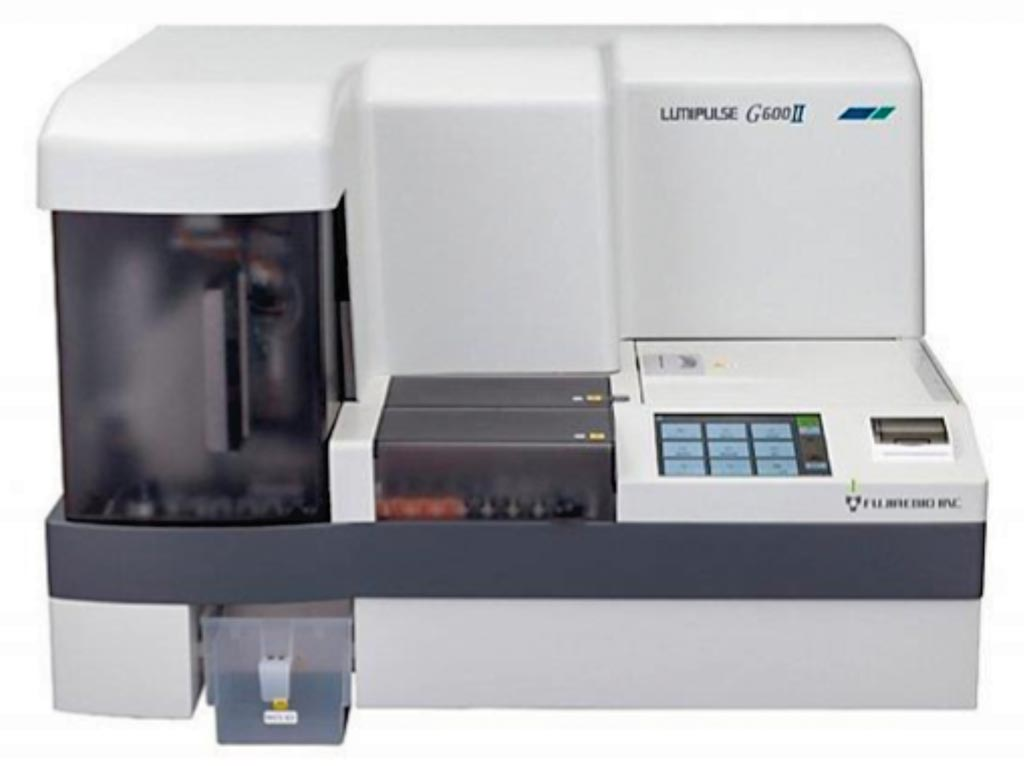 Image: The Lumipulse G600 II is a fully automated benchtop chemiluminescent enzyme immunoassay analyzer (Photo courtesy of Fujirebio Europe).