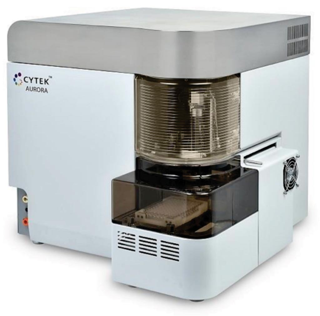 Image: The Aurora advanced flow cytometry system is now available with five lasers to enable seeing more than 30 colors from a single sample (Photo courtesy of Cytek Biosciences).
