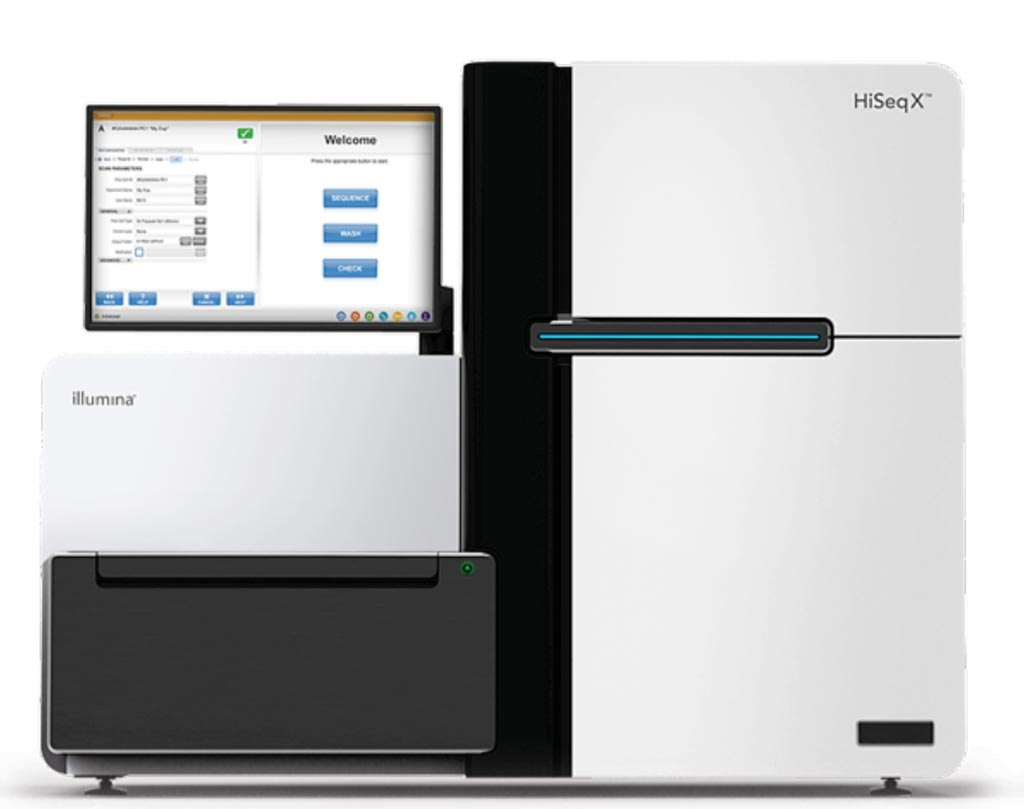 Image: The HiSeq X Series incorporates patterned flow cell technology to generate an exceptional level of throughput for whole-genome sequencing (Photo courtesy of Illumina).