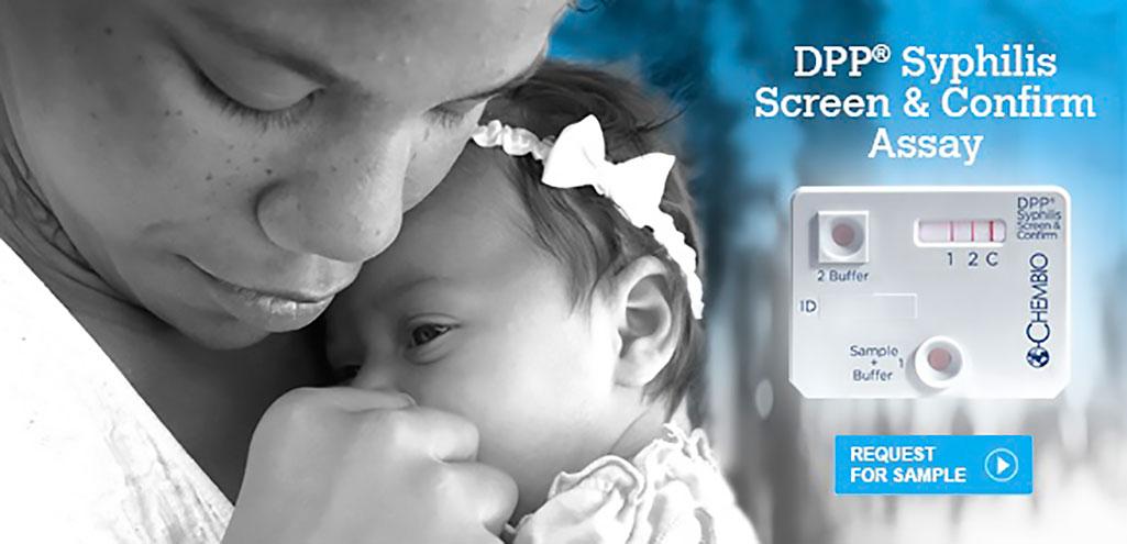 Image: DPP® Syphilis Screen & Confirm Assay (Photo courtesy of Chembio Diagnostics)