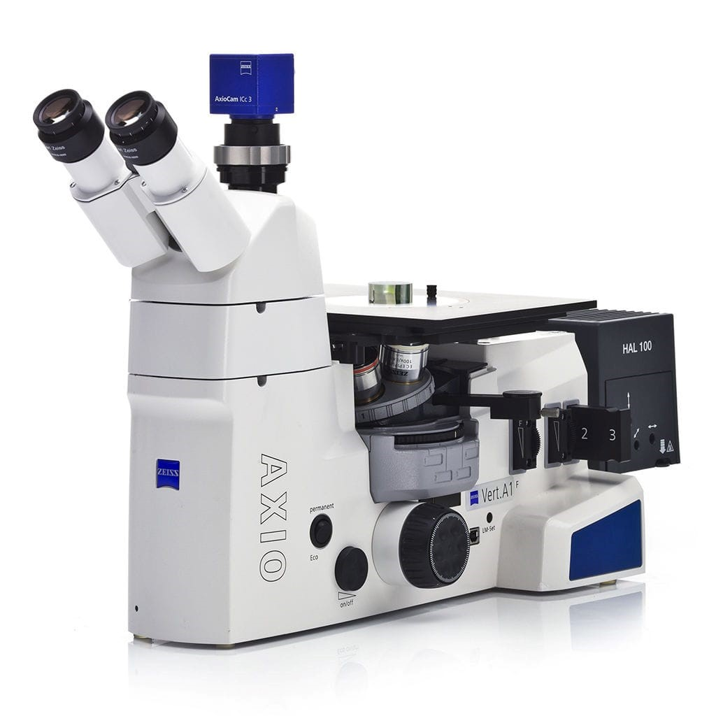 Image: Axio Vert.A1 inverted microscope (Photo courtesy of Carl Zeiss)