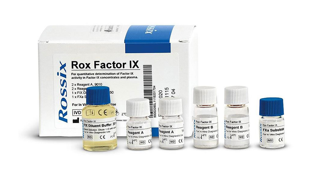 Image: An assay kit for the determination of Factor IX activity in plasma and Factor IX preparations, including potency assignment of FIX concentrates. The lack of increase in FIX activity, in contrast to FVIII activity, during pregnancy is likely to have contributed postpartum hemorrhage (Photo courtesy of Cryopep)