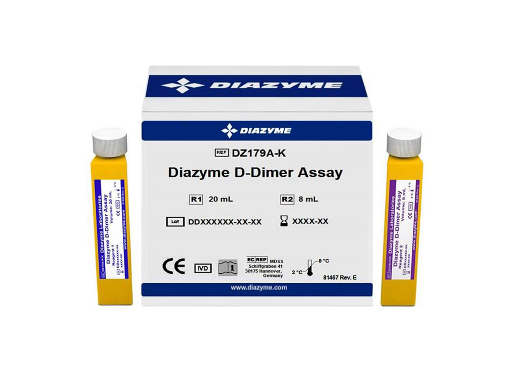 Image: Diazyme`s D-Dimer Assay is a highly sensitive liquid stable latex enhanced immunoturbidimetric test kit, designed to work on most open clinical chemistry analyzers to provide rapid results with reduced reagent cost (Photo courtesy of Diazyme Laboratories)