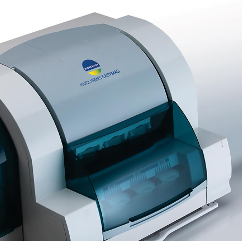 Image: The NUCLISENS EASYMAG instrument is designed to meet the most critical needs when it comes to premium quality total nucleic acid extraction. The system automates an enhanced magnetic silica version of BOOM technology, a gold standard for efficient universal extraction of RNA and DNA (Photo courtesy of bioMérieux).