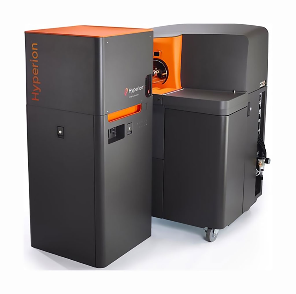 Image: The Hyperion Imaging System brings proven CyTOF technology together with imaging capability to empower simultaneous interrogation of four to 37 protein markers using Imaging Mass Cytometry (Photo courtesy of Fluidigm).