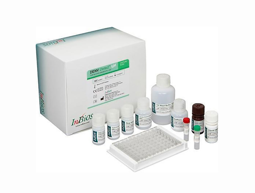 Image: The DENV Detect IgM Capture ELISA is for the qualitative detection of IgM antibodies to DENV recombinant antigens in serum for the presumptive clinical laboratory diagnosis of Dengue virus infection (Photo courtesy of InBios International).