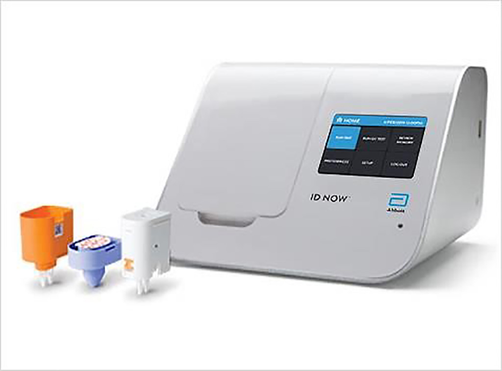 Image: The ID NOW Influenza A & B 2 assay delivers molecular flu results in 13 minutes or less on the unique ID NOW platform; making it significantly faster than other molecular methods and more accurate than conventional rapid tests (Photo courtesy of Abbott Laboratories).
