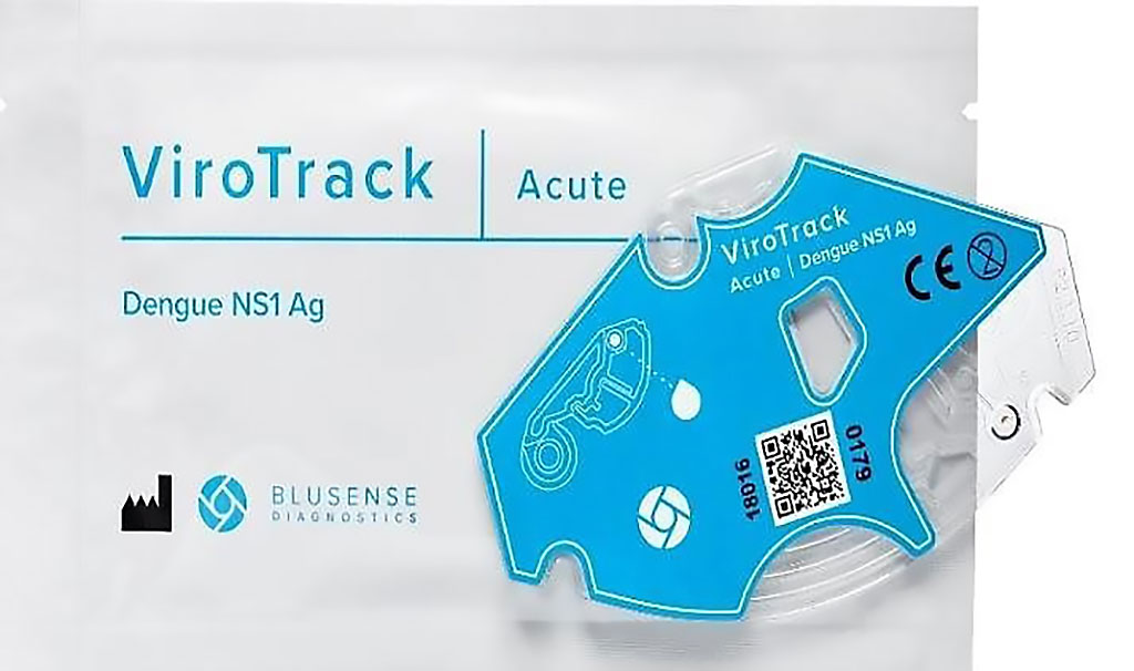 Image: The ViroTrack Dengue Acute assay is a rapid and semi-quantitative microfluidic Dengue virus (DENV) NS1 detection method based on immuno-magnetic agglutination (IMA) technology (Photo courtesy of BluSense Diagnostics).