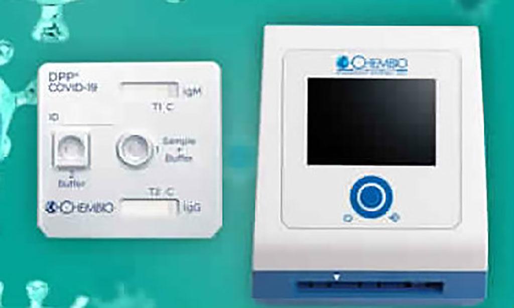 Image: The Chembio DPP platform (Photo courtesy of Chembio Diagnostics, Inc.)