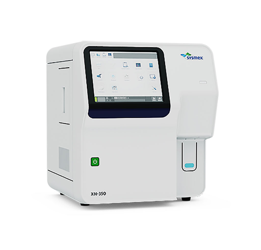 Image: The XN-350 hematology analyzer and blood cell counter (Photograph courtesy of Sysmex).