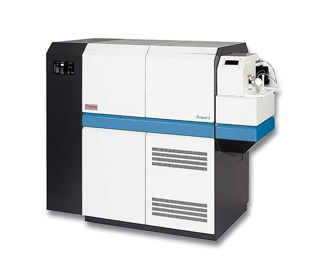 Image: The Element 2 High Resolution, Sector-Field, Inductively Coupled Plasma Mass Spectrophotometer (HR-ICP-MS) (Photo courtesy of Thermo Fisher Scientific).