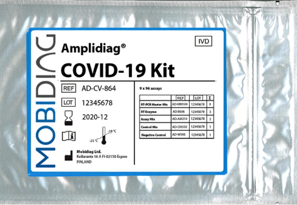 Image: The Amplidiag COVID-19 molecular diagnostic test (Photo courtesy of Mobidiag Ltd.)