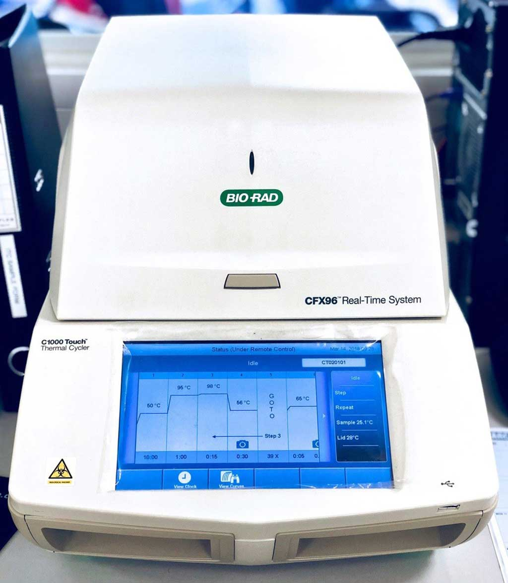 Image: The Bio-Rad CFX96 Real-Time PCR Platform (Photo courtesy of Nanyang Technological University).