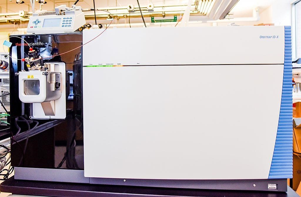 Image: A Thermo Fisher Orbitrap ID-X mass spectrometer used to analyze blood plasma metabolites in ALS patients (Photo courtesy of North Carolina State University).