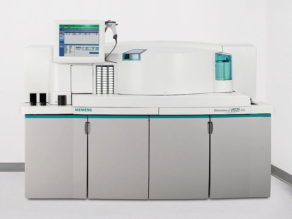 Image: The Dimension Vista 500 Intelligent Laboratory System (Photo courtesy of Siemens Healthineers).