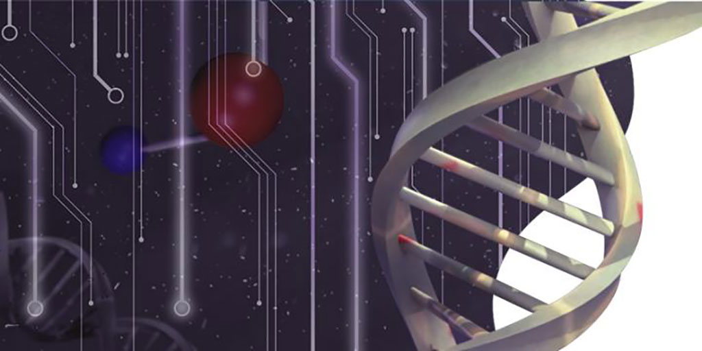 Image: Illustration depicting the marriage of DNA nanotechnology and bioelectronics (Photo courtesy of EatFishDesign)