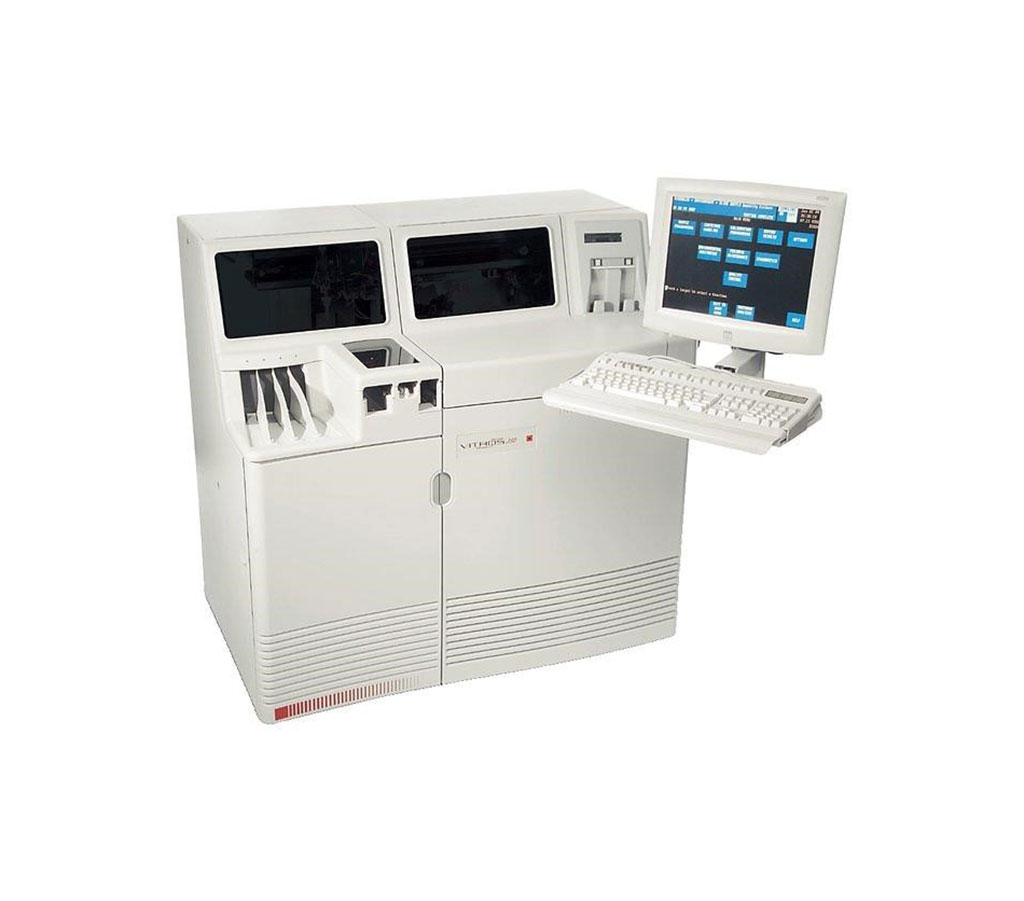 Image: The Vitros 350 clinical chemistry system (Photo courtesy of Ortho Clinical Diagnostic).