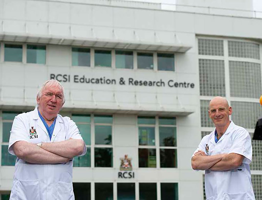 Image: Professor Gerry McElvaney (left), the study's senior author and a consultant in Beaumont Hospital, and Professor Ger Curley (right). (Photo courtesy of RCSI Education and Research Centre in Beaumont Hospital)