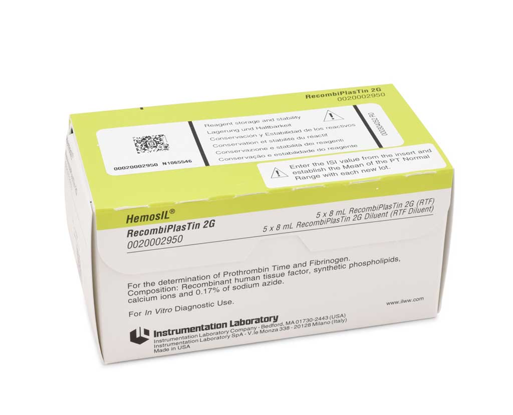 Image: HemosIL RecombiPlasTin 2G assay: A high sensitivity thromboplastin reagent based on recombinant human tissue factor (RTF) for the quantitative determination in human citrated plasma of Prothrombin Time (Photo courtesy of Instrumentation Laboratories).