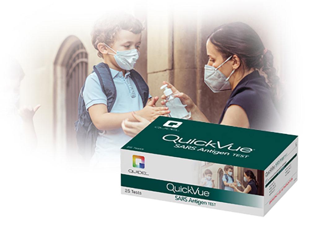Image: QuickVue SARS Antigen test (Photo courtesy of Quidel Corporation)