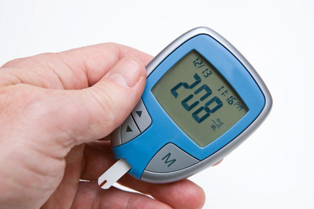 Image: Blood glucose monitor showing a higher than normal result that could lead to hyperglycemia (Photo courtesy of Diabetes Self-Management).
