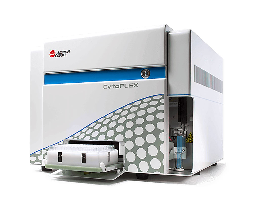 Image: The CytoFLEX benchtop flow cytometer features up to three lasers for 13-color flow cytometry (Photo courtesy of Beckman Coulter Life Sciences).