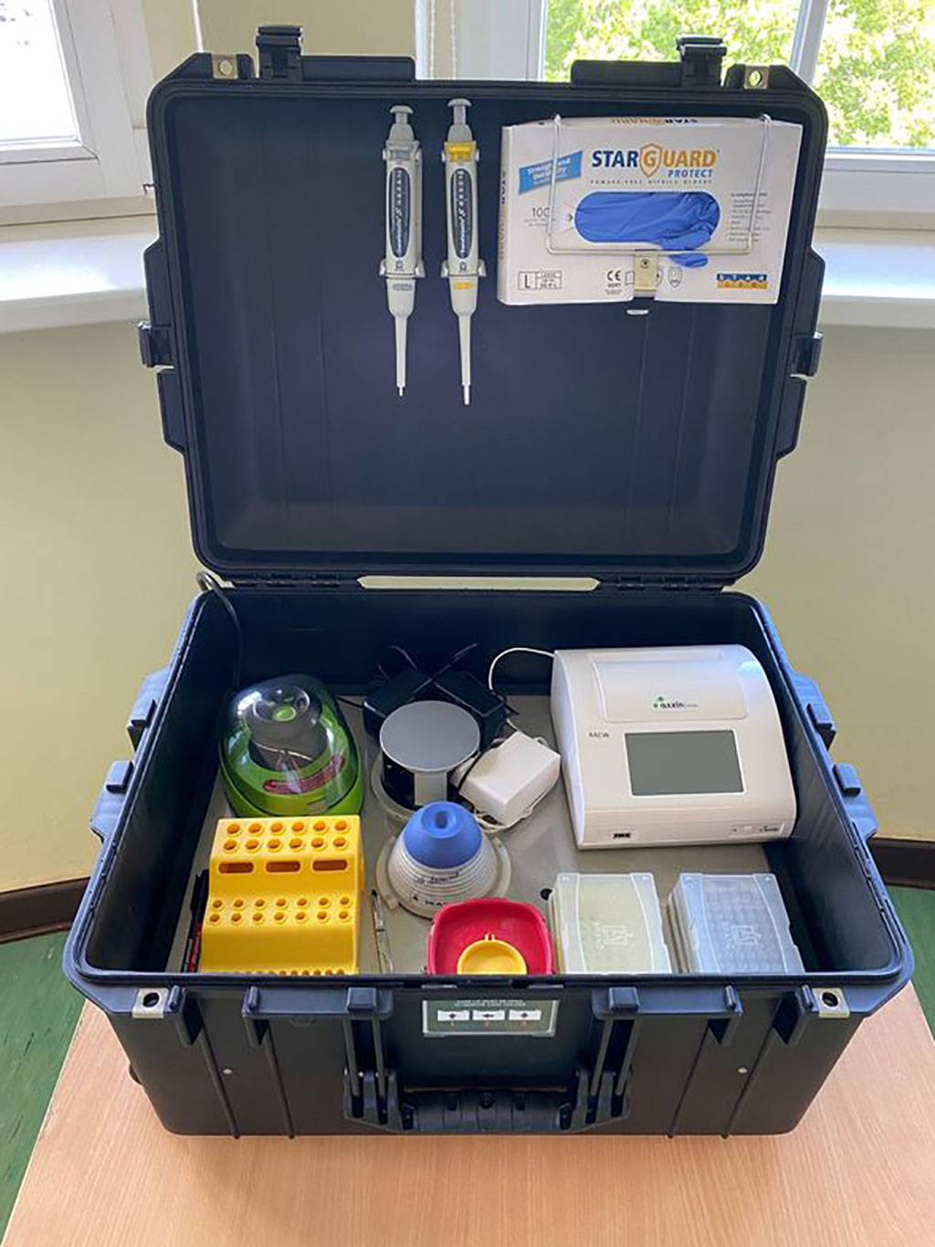 Image: Portable Suitcase Mini-Laboratory for Rapid Detection of SARS-CoV-2 (Photo courtesy of Dr Ahmed Abd El Wahed)