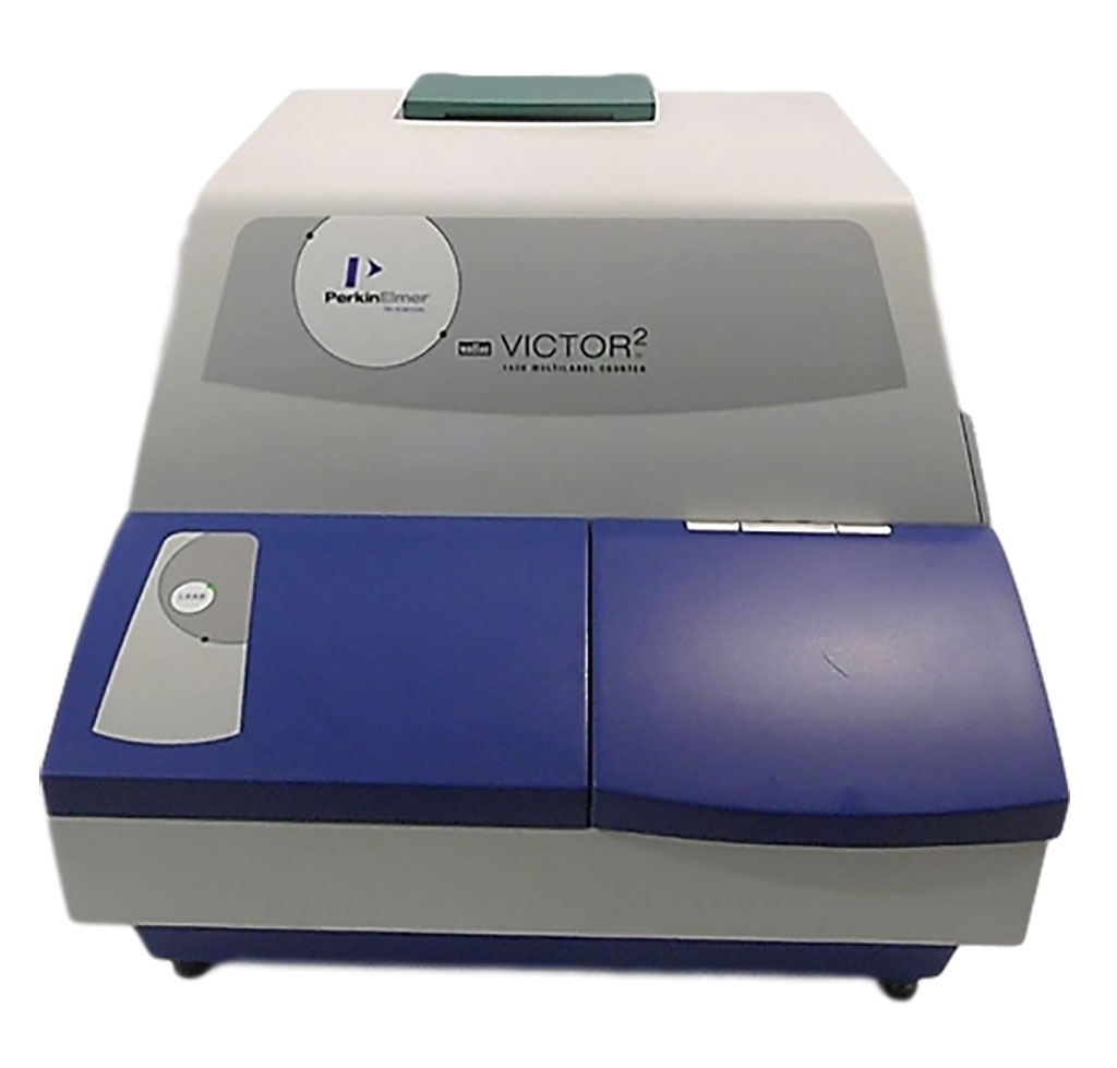 Image: The Wallac 1420 Victor 2 Multi-Label Microplate Reader (Photo courtesy of  Perkin Elmer).